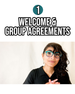 Still photo from video: module 1, welcome and group agreements